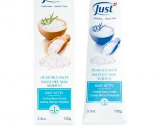 Crema San Activ con Sales del Mar Muerto-problemas de piel, huesos y articulaciones